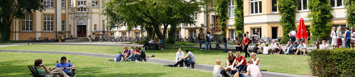 Header: Bucerius Law School campus in summer